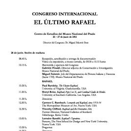 El último Rafael [Recurso electrónico] : congreso internacional / Museo Nacional del Prado.