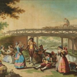 Un baile junto a un puente del canal del Manzanares