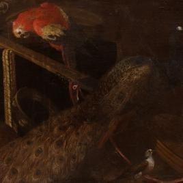 Un pavo real, un guacamayo y otras aves (Alegoría de la Música)