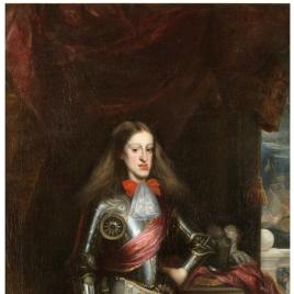 Carlos II, con armadura