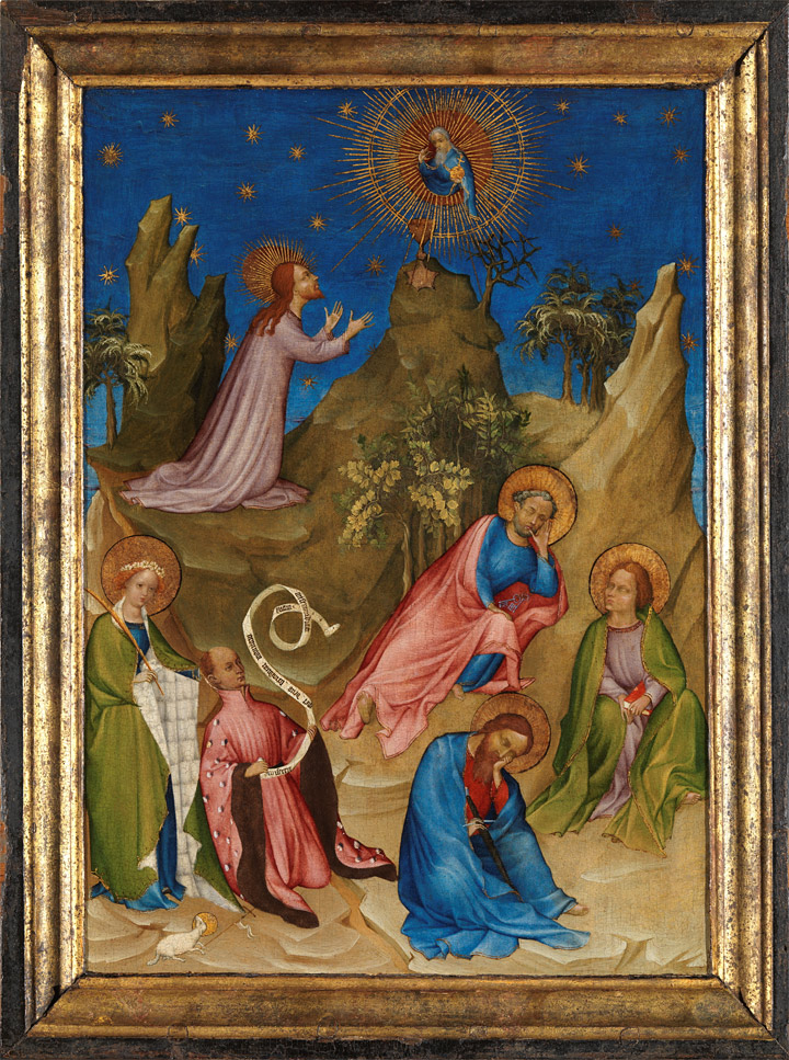 Restoration, of The Agony in the Garden with the Donor, Louis d'Orléans (1405-1408)