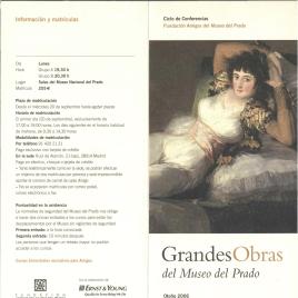 Grandes obras del Museo del Prado : otoño 2006 : ciclo de conferencias / Amigos del Museo del Prado.