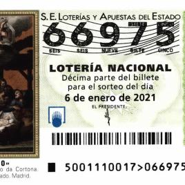 Billete de Lotería Nacional para el sorteo de 6 de enero de 2021
