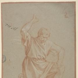 Figura masculina semiarrodillada