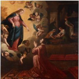 Milagroso anuncio del nacimiento de San Juan de Mata