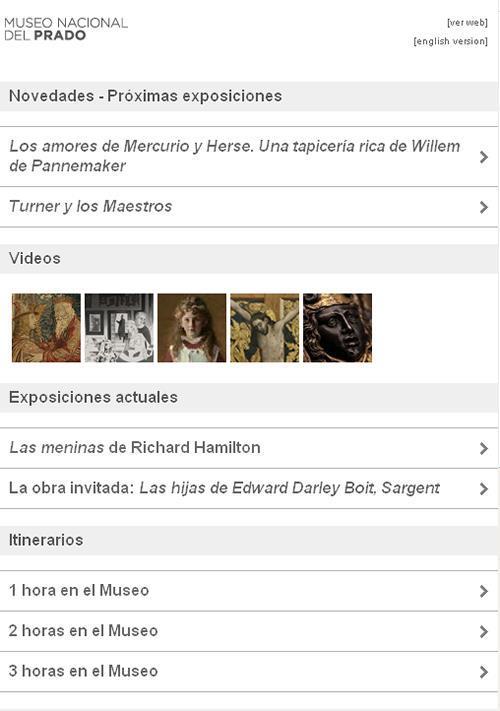 El Museo del Prado crea una versión web adaptada para dispositivos móviles