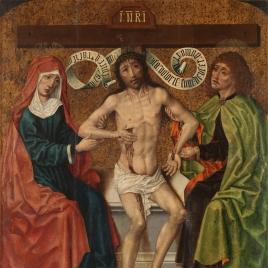 Cristo entre la Virgen y San Juan