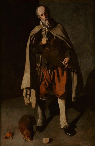 Tañedor de zanfonía con un perro