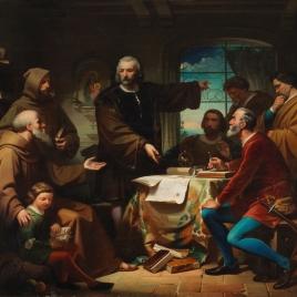 Cristóbal Colón en el Convento de la Rábida