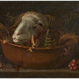 Bodegón con cabeza de carnero