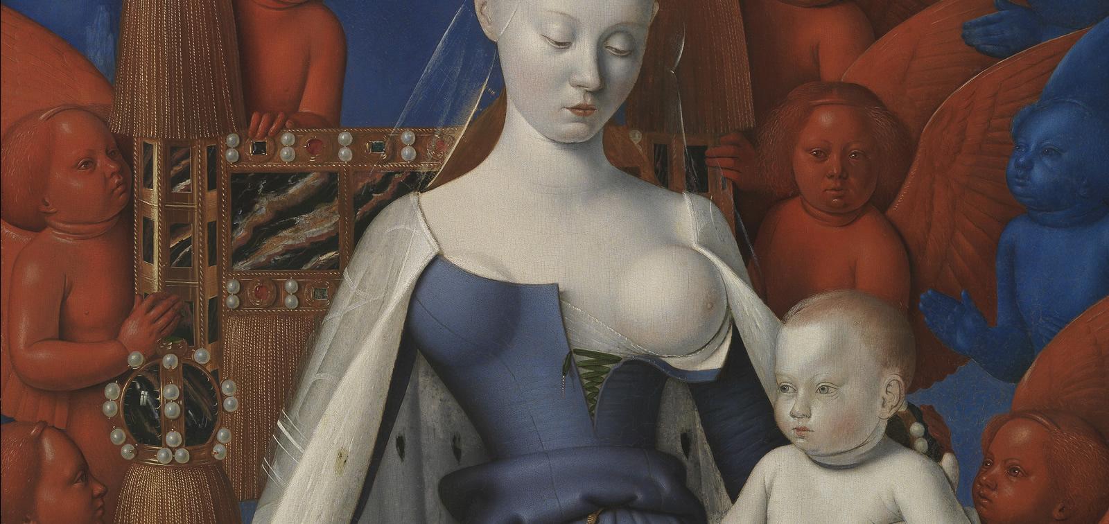 La obra invitada: La Virgen con el Niño y ángeles, Jean Fouquet