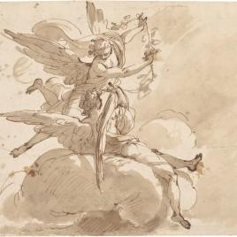 Dos ángeles sobre nubes