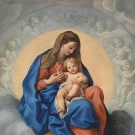 La Virgen con el Niño en la Gloria