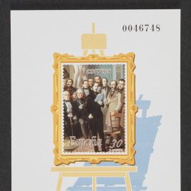 Pruebas oficiales de la serie de sellos Pintura Española. Antonio María Esquivel