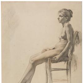 Desnudo de mujer sentada