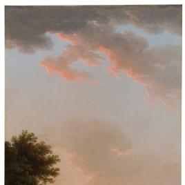 Paisaje romano a la puesta del sol