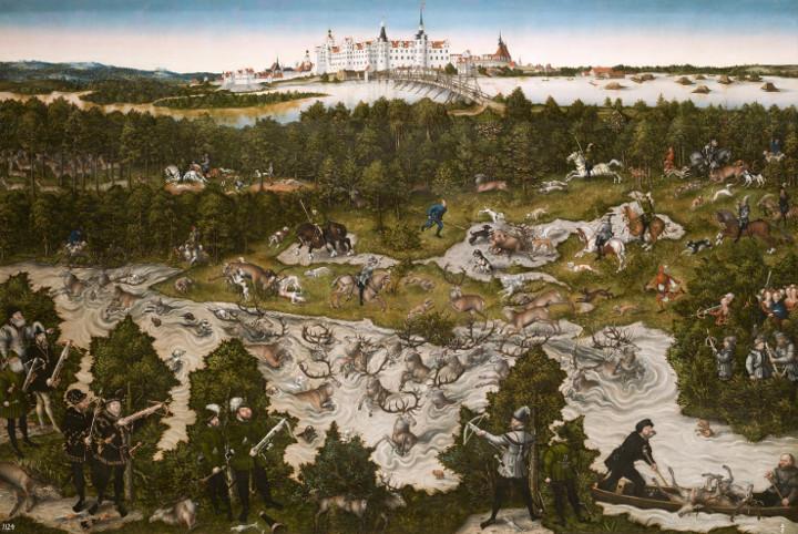Cacerías en el castillo de Torgau, de Lucas Cranach el Viejo