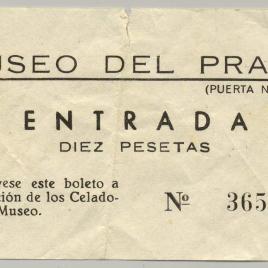 Billete de entrada al Museo del Prado [1960-1973]