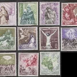 Serie de sellos Misterios del Rosario