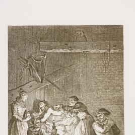La Ventera y su hija emplastan a Don Quijote