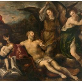 San Jerónimo azotado por los ángeles
