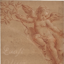 Angelito con rama de olivo