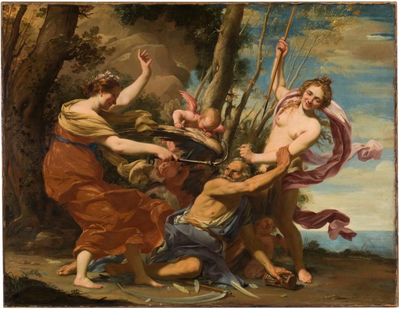El Tiempo vencido por la Esperanza y la Belleza, de Simon Vouet