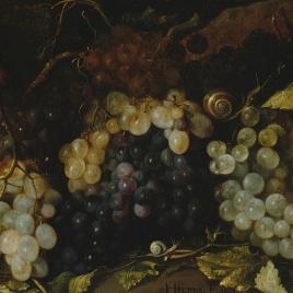 Bodegón de uvas