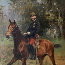Alfonso XII, a caballo