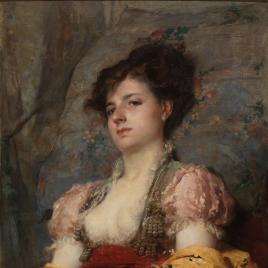 Dama con abanico