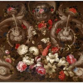 Mascarón con flores