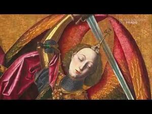 Bartolomé Bermejo - San Miguel triunfante sobre el demonio con Antoni Joan